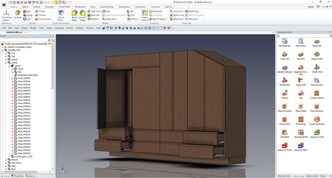 Interface de menuiserie woodLAB CAD