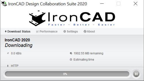Processus de téléchargement d'IronCAD
