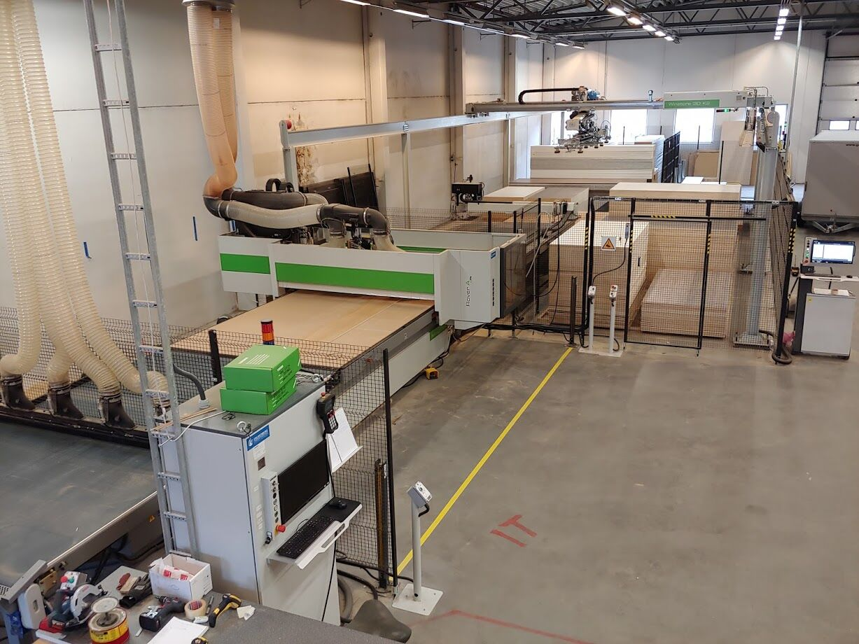 Biesse Rover A and Winstore K2 at Rovde