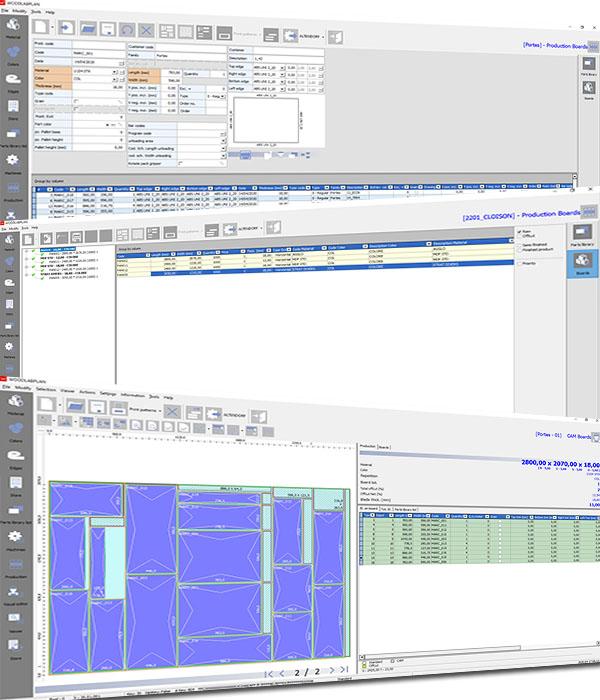 Interface de gestion des bordereaux et optimisation de découpe