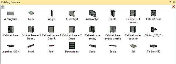<b>woodLAB</b> <b>IronCAD</b> DRY utilise des catalogues