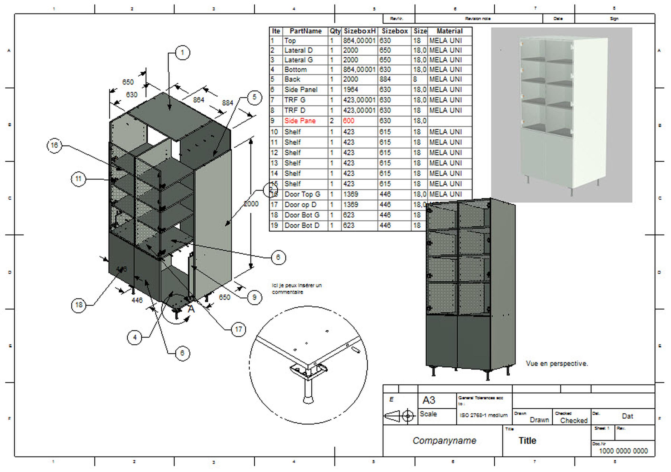 <b>woodLAB</b> <b>IronCAD</b> génére les dessins 2D dynamiquement