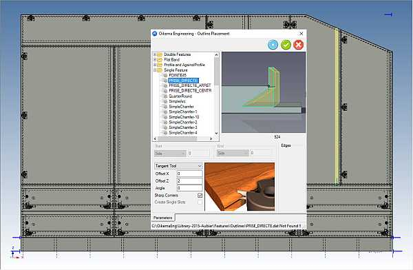woodLAB IronCAD Outils pour usiner