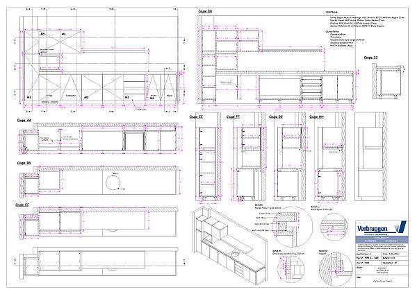 2D tekening voor interieurbouwers