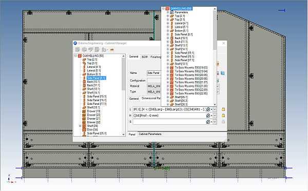 woodLAB IronCAD är 100% parametrisk