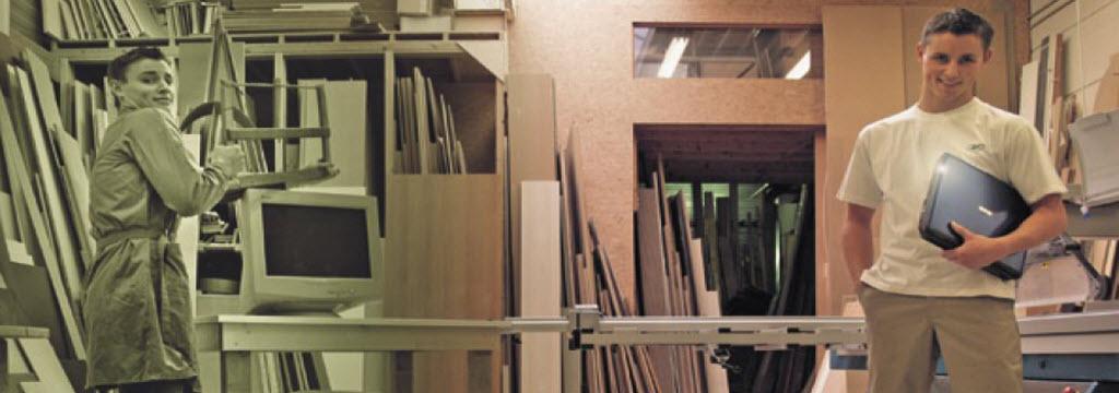Avec woodLAB, on utilise les outils de l'atelier et de la machine
