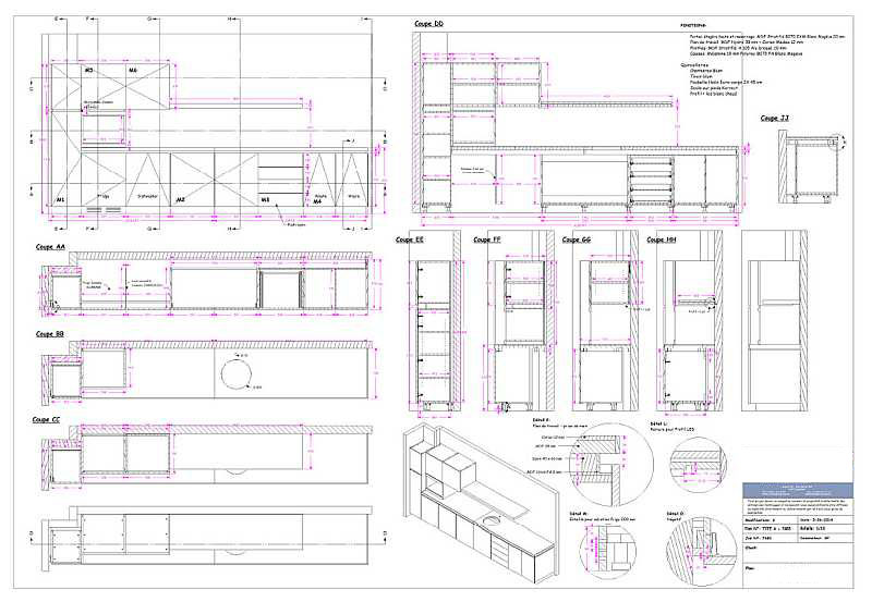 2D drawings - Sections - Dimensions - Views