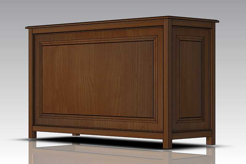 Solid wood furniture with profile and counter profile