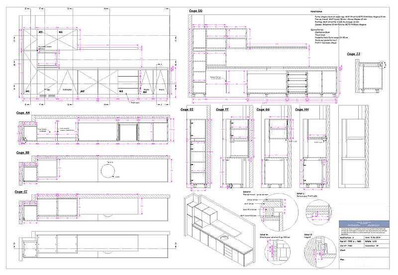2D ritningar - Sektioner - Mått - Visningar